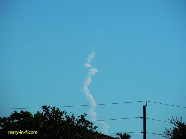 Delta 4 launch 08-22-2019 as seen in Fort Myers, FL