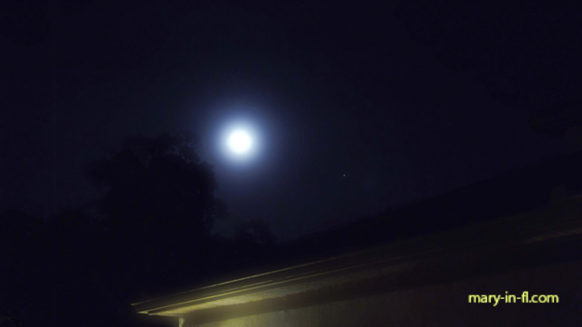 The full moon and Mars 07-27-2018