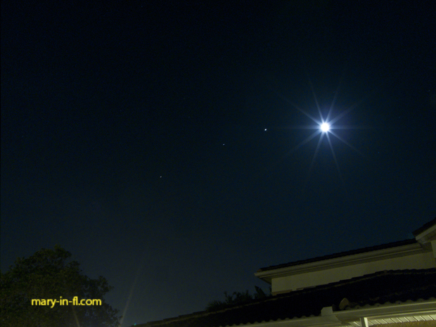 Mars, Saturn, Jupiter and the moon in the morning sky 04-14-2020
