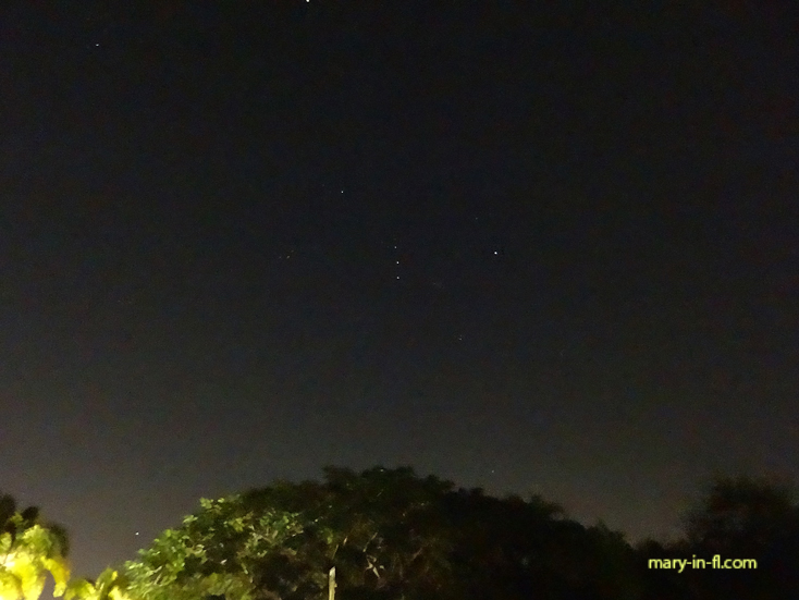 The constellation Orion in the evening sky 01-13-2020