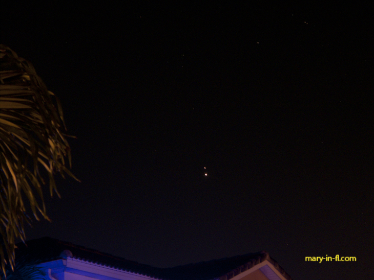 Saturn and Jupiter in the evening sky 12-18-2020