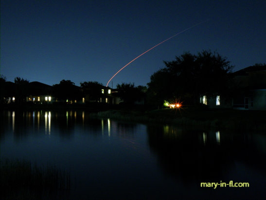 SpaceX launch 12-16-2019 as seen in Fort Myers, FL