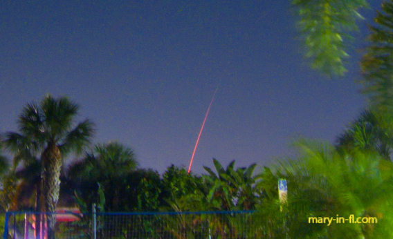 SpaceX launch 04-28-2021 as seen in Fort Myers, FL