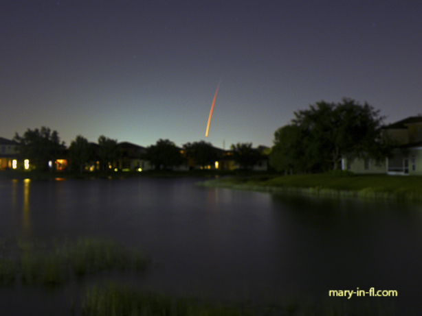 SpaceX launch 05-23-2019 as seen in Fort Myers, FL